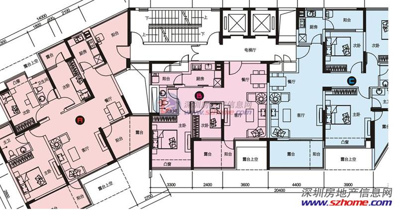 4房平面设计图