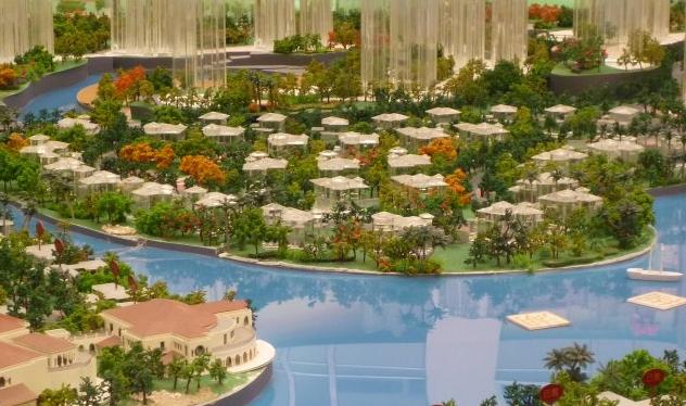 自然山水园竖向设计平面图